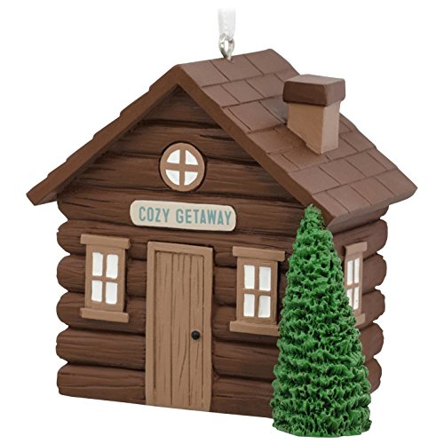 Log Cabin Hallmark Ornament Hobbies & Interests; Animals & (Log Ornament)