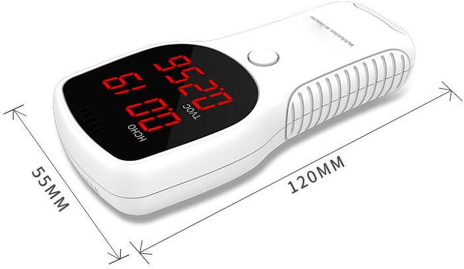 Goliraya Probador de medidores de Pantalla Digital LED de HCHO TVOC de formaldeh/ído Mini Detector de di/óxido de Carbono Analizador de Gases