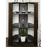 Walker Edison Furniture Multi-Level Component Stand, Espresso/Black