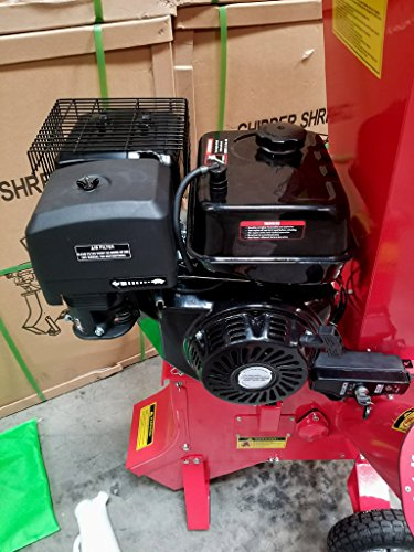 15HP 420CC Gas Powered Wood Chipper Shredder, 4'' Capacity, with Mulch Bag and Electric Start by MCP Samson Chipper (Image #3)