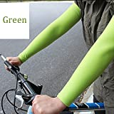 Glumes Arm Sleeves, 1 Pairs Sports Cooling Arm Sleeves Unisex Sun Block UV Protection Cooler Protective Hands Arm Cover Long Sleeve for Outdoor Activities Skin Protection