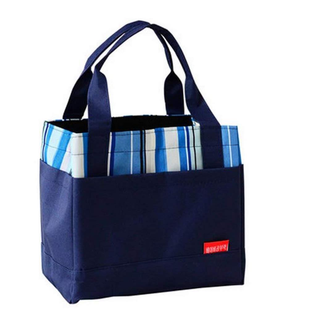 1pcブルーFood Takeawayバッグ学生Deliveryバッグ荷物バッグランチバッグLunch旅行ショッピングコンテナキャリアホルダーボックスハンドバッグ B0719MQ9HQ