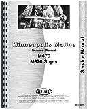 Minneapolis Moline Tractor Service Manual (MM-S-M670)