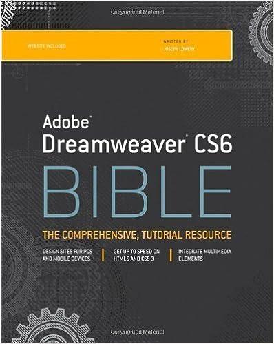 Google books téléchargement complet Dreamweaver CS6 Bible by Lowery, Joseph W. (2012) Paperback ePub