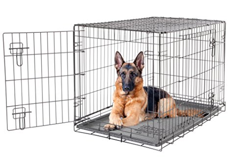 Dogit 2 Door Wire Cage/Home, 106.5 x 70 x 77 cm, Black