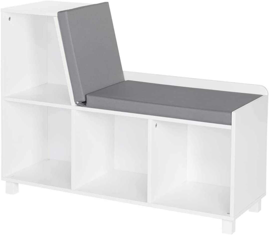 Amazon Com Riverridge Book Nook Collection Kids Cubbies Storage Bench White Furniture Decor