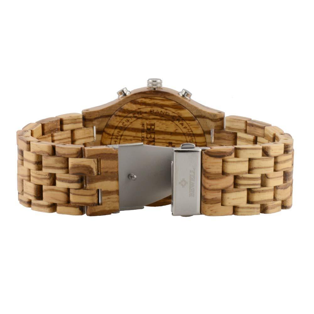 # klockor multifunktionell träklocka naturligt miljöskydd träklocka europeisk vattentät kvartsklocka armbandsur a