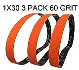 Norton SG Blaze Plus 1x30 60 Grit Ceramic Sanding Sharpening Belts 3 Pk Long Lasting