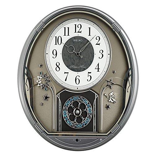 Seiko Executive Silver Stainless Steel Case Grey Dial Wall Clock - QXM376BRH