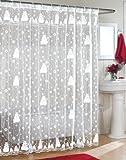 Snowman Shower Curtain Snowman Lace Fabric Shower Curtain 70Wx72L