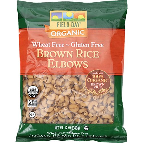 Organic Rice Macaroni - Field Day Pasta Organic Brown Rice Elbows, 12 Count