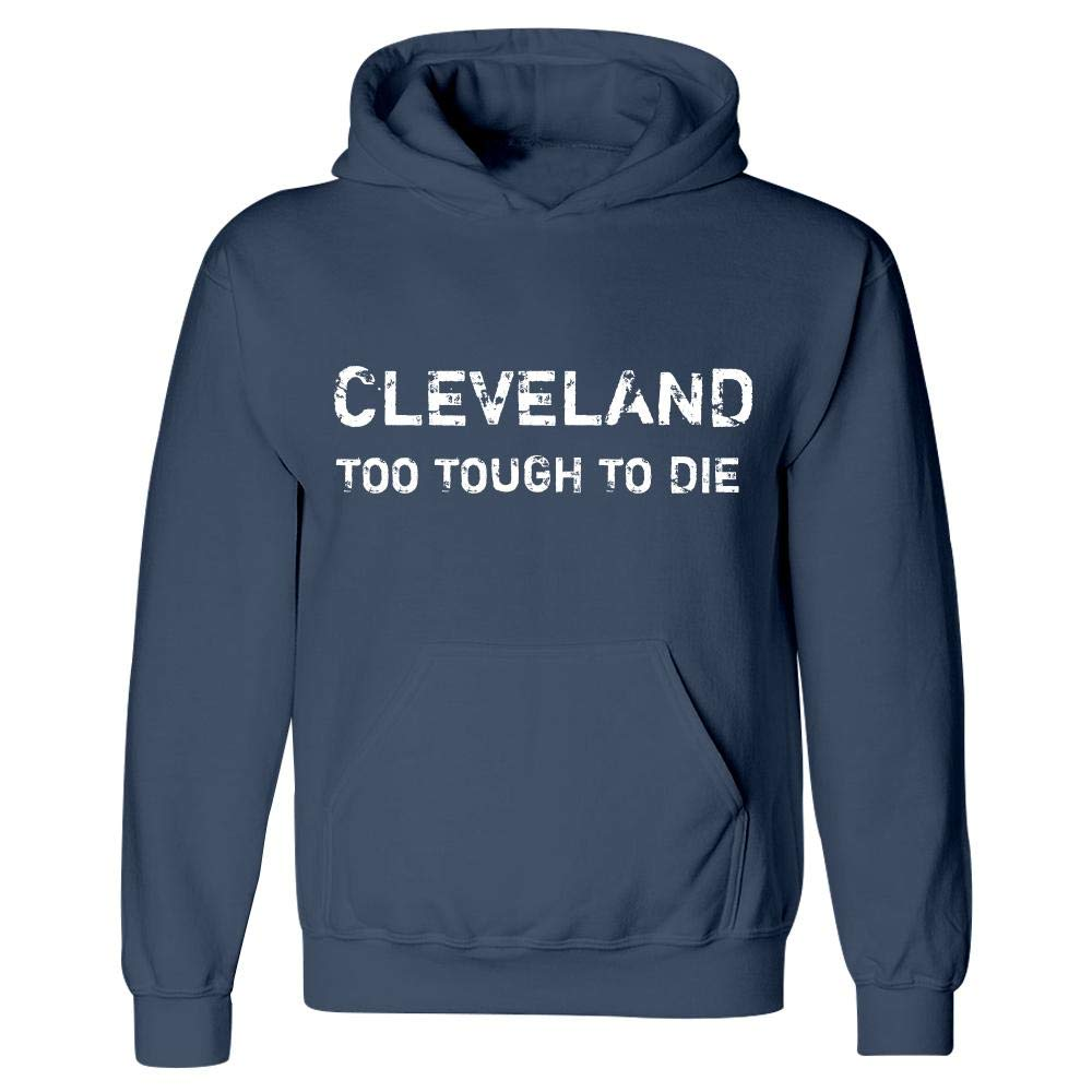 Hoodie Navy MESS Cleveland Too Tough to Die