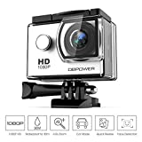 DBPOWER 1080P Action Camera 14MP WiFi Waterproof Sports Camera 140 Degree Wide Angle Lens, 30m Underwater DV Camcorder with 14 Accessories and 2 Batteries(White)