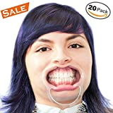 LoL Cartel Dental Mouth Opener Cheek Retractors for Speak Out, Watch Ya Mouth Guard Game, Dental Procedures, Teeth Whitening-Value Pack of 20 Intraoral Lip Expanders for Adult, Kids 10 medium,10 small Lifetime Guarantee
