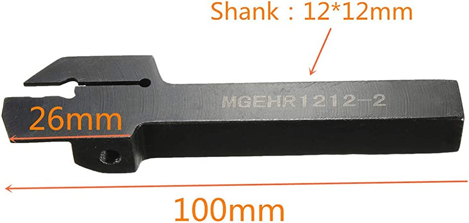 heaven2017 MGEHR1212-2 12x100mm Lathe Grooving Tool Holder MGMN200 Carbide Inserts Set