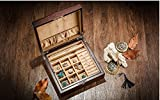 Frozen Willow Wooden Jewelry Box Double Belt Locked Jewelry Bracelet Storage Box