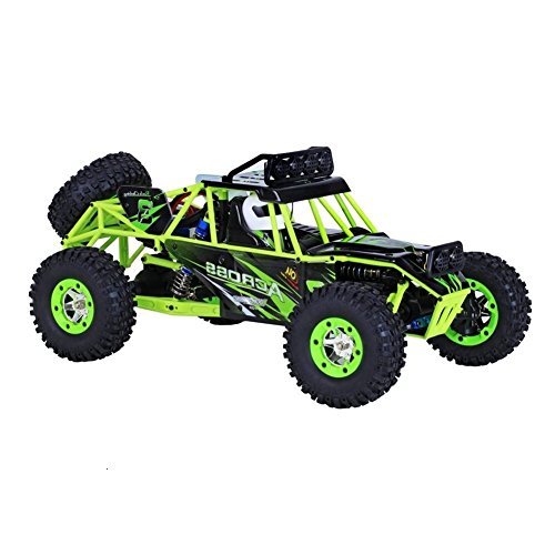 10 Electric 4wd Truck (Yiguo WL 12428 ABS 1:12 Scale 2.4Ghz 50km/h High Speed Electric 4WD Remote Control Bigfoot Off-road Car Climbing Car Green)
