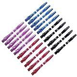 4 colors 20pcs Medium Aluminum Dart Shafts Dart Stems Wholesale 46mm