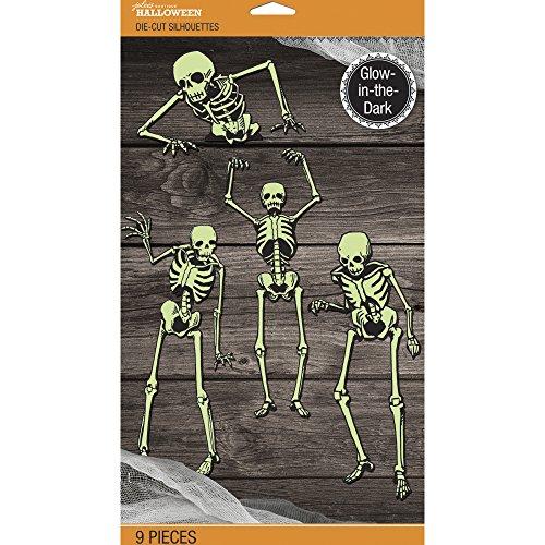 Jolee's Boutique Jolee's Skeleton Glow-in-The-Dark Mega Silhouette Pack 50-40583