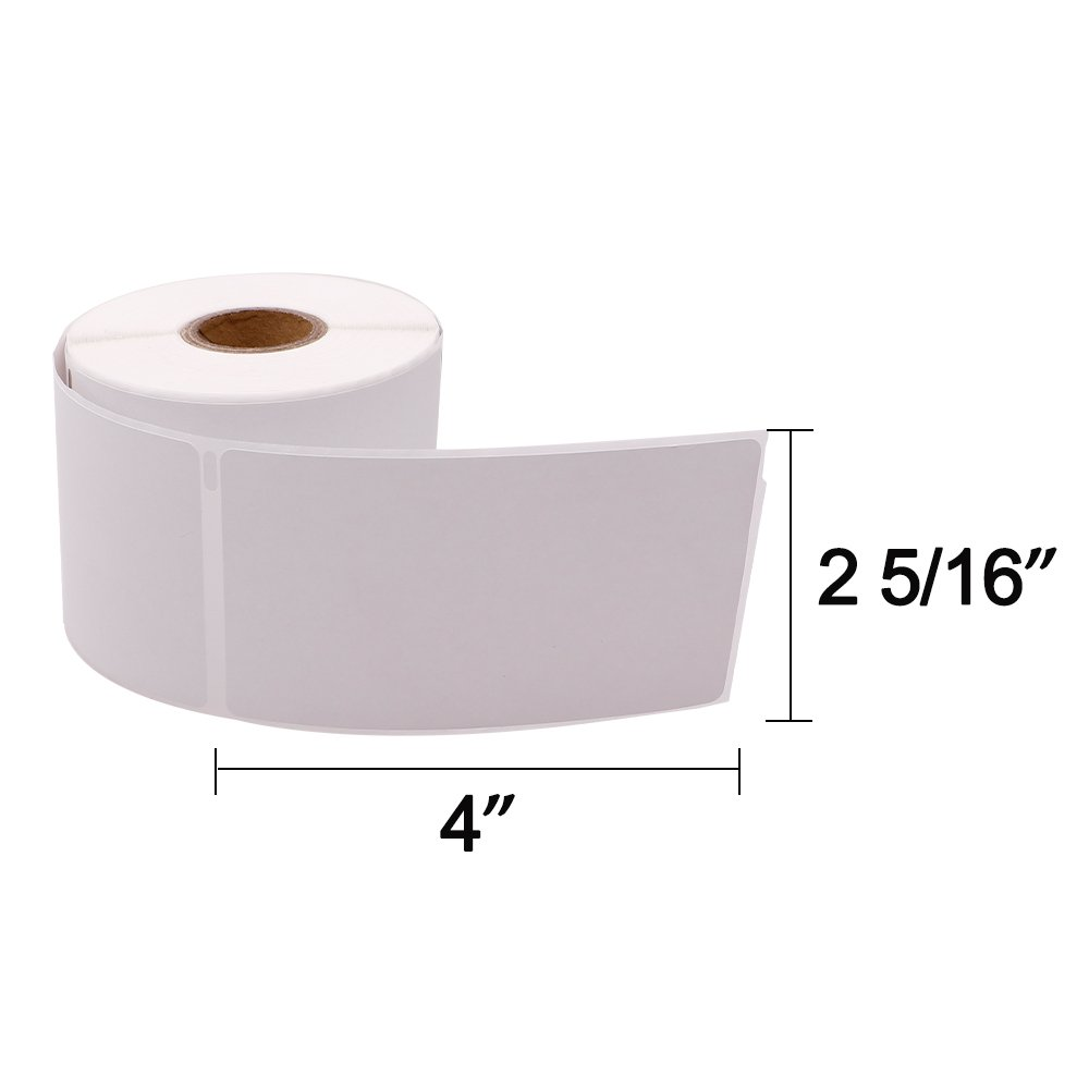 Compatible DYMO LabelWriter (LW) 30256 2-5/16'' x 4''(59 mm x 102 mm) Shipping Labels Bright White 300 Labels/Roll,4 Roll by COLORWING (Image #3)