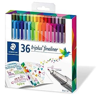Staedtler Color Pen Set, Set of 36 Assorted Colors (Triplus Fineliner Pens) (B00VY9U9W0) | Amazon Products
