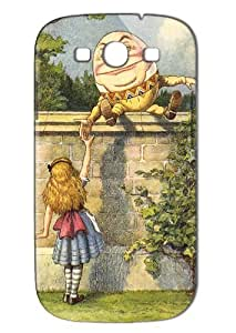 Case Fun Samsung Galaxy S3 (I9300) Case - Vogue Version - 3D Full Wrap - Alice in Wonderland Humpty Dumpty
