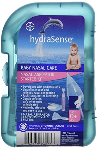 hydraSense Nasal Aspirator Starter Kit, Baby Nasal Care, Relieve Congested  and Stuffy Noses, 1 Kit
