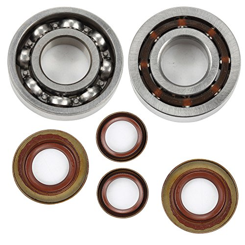 (ATVATP Flywheel / Clutch Side Crankshaft Bearing and Oil Seal for STIHL 066 MS660 065 MS650 064 MS640 chainsaw)