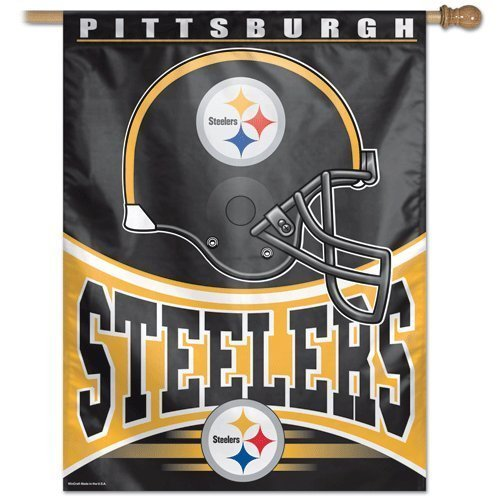NFL Pittsburgh Steelers 27-by-37 Inch Vertical Flag