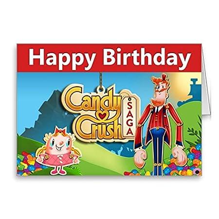 Candy Crush Saga Birthday Card Amazon Kitchen Home