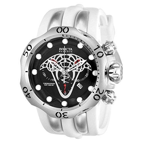 Invicta 24065 Reserve 54mm Venom Viper Swiss Chronograph White Polyurethane Strap Watch Invicta Reserve Venom