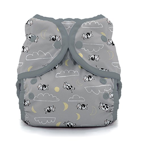 - Thirsties Duo Wrap Cloth Diaper Cover, Snap Closure, Over The Moon Size One (6-18 lbs)