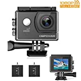 3 Package DBPOWER EX5000 Action Camera WiFi 1080P HD Outdoor Camera 14MP 170 Degree Wide Angle 2 Inch LCD Screen 2 Rechargeable Batteries 16 Accessories Kits