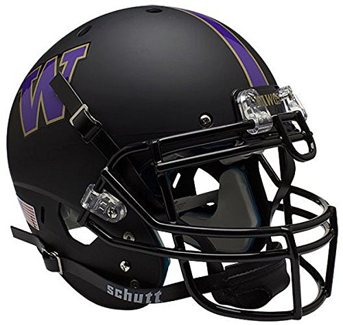(Schutt Washington Huskies Authentic College XP Football Helmet Matte Black - NCAA Licensed - Washington Huskies Collectibles)
