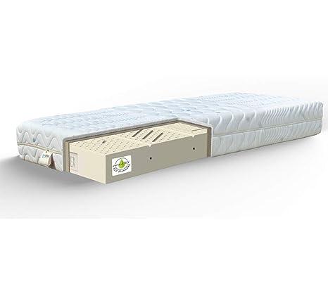 JOYSHOP s.r.l. Corona Latex colchón H22 cm Desenfundable 100% látex 7 Zonas Francese 150x190 Coolmax