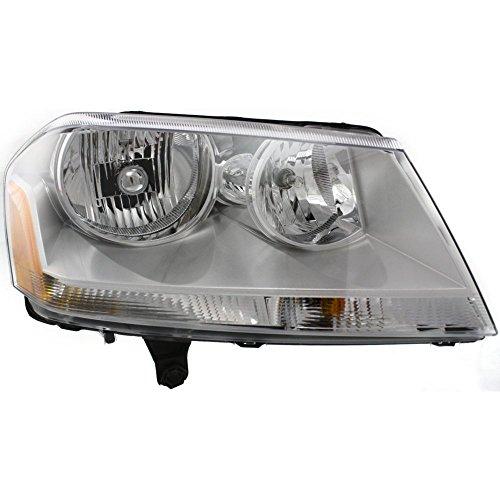 Headlight for Dodge Avenger 08-14 Right Assembly Halogen SE/SXT Models