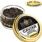 Marky s Siberian Sturgeon Royal Caviar - 1 oz Premium Sturgeon Malossol Black Roe - GUARANTEED OVERNIGHT