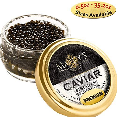 - Marky's Siberian Sturgeon Royal Caviar – 1 oz Premium Russian Osetra Sturgeon Malossol Black Roe – GUARANTEED OVERNIGHT