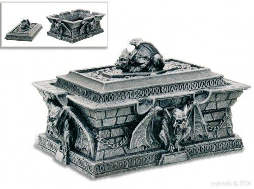 AlxShop AlxShop AlxShop Alxshop - Figurine de d coration en r sine : reliquaire orn  de gargouilles 11e8dc