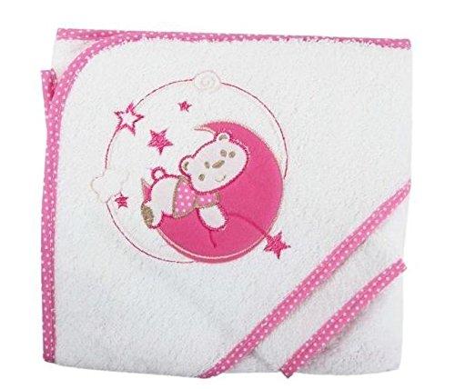 NISSANOU Parure de bain OURS SUR LUNE BCRS cadeau naissance maternité bebe, annonce grossesse PORTUGAL