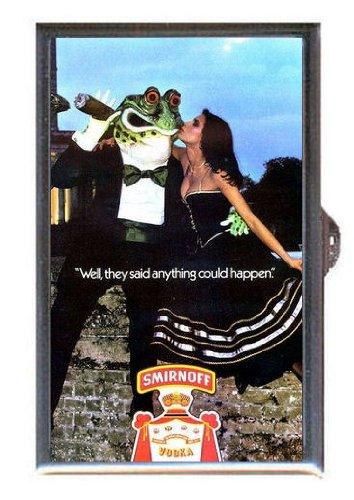 1977-smirnoff-vodka-beauty-kisses-frog-ad-guitar-pick-or-pill-box-usa-made