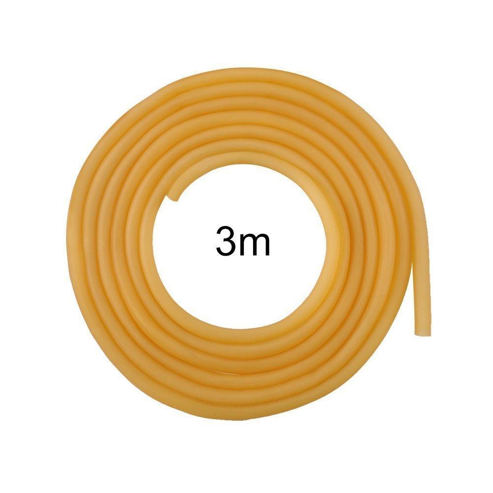 Yosoo 6 x 9 mm L/átex Natural Amarillo Banda De Goma Fitness m/úsculos Rally Ejercicio exterior tirachinas el/ástica parte con SEVENFOLD 3 m