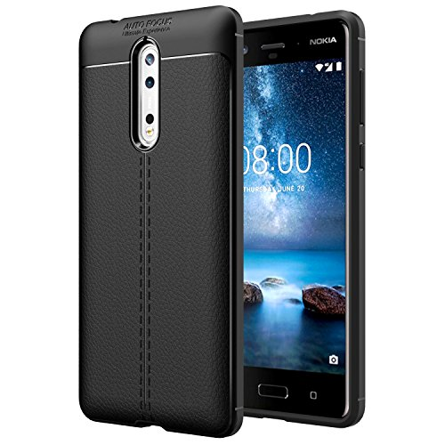 MoKo Nokia 8 Case, Flexible TPU Gel Bumper Cover...