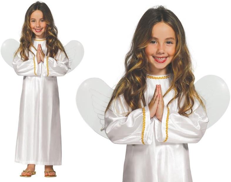 GUIRMA Disfraz de Angelito Infantil con alas