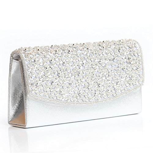 Bags bag Silver Gift Clutch New Crystal Design HMaking �� Womens Evening Rhinestone PXqzwxE