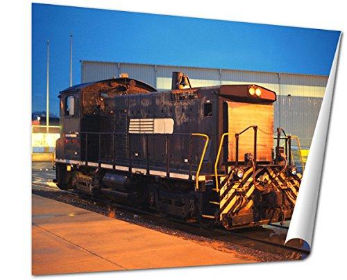 rt Print, Powerful Diesel Locomotive At Night Philadelphia Pa, 16x20, AG6488500 ()