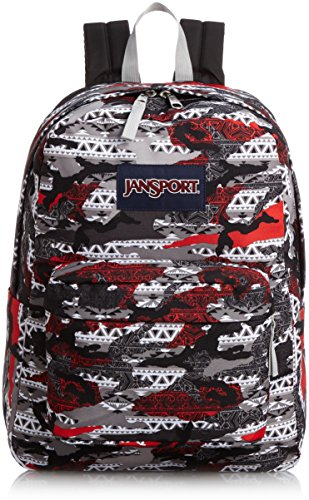 Jansport Superbreak High Risk Red Aztec Camo T50105X