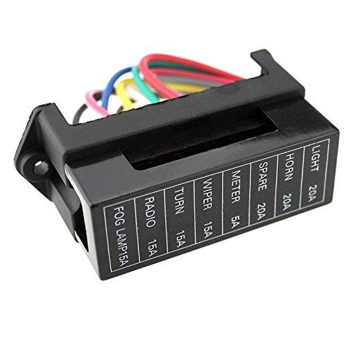 Soportes para fusibles de 8 linea,DC32V Circuit Car Trailer Auto Blade Caja de fusibles Block Holder ATC ATO 2-input 8-ouput...