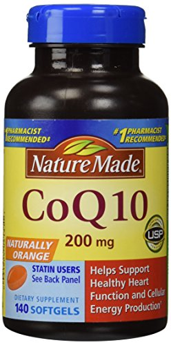 Nature Made CoQ10 Coenzyme Q10 200 mg - 2 Bottles, 120 Softgels Each