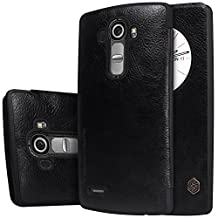 LG G4 Case,Nillkin View Window Function Natural Texture Qin Leather Case for LG G4, Black